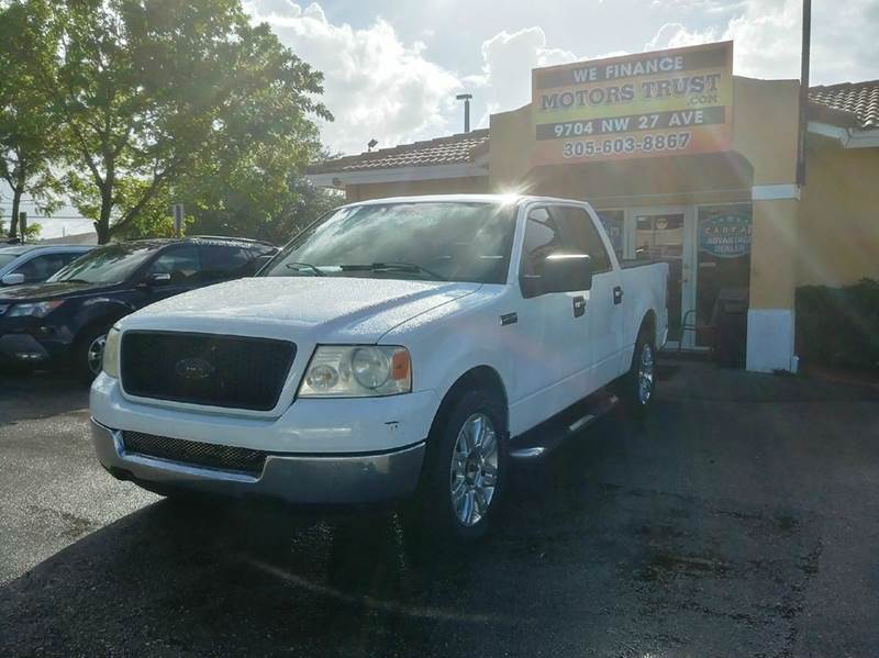 2005 FORD F-150 XLT 4DR SUPERCREW RWD STYLESIDE white abs - 4-wheel axle ratio - 355 clock cr