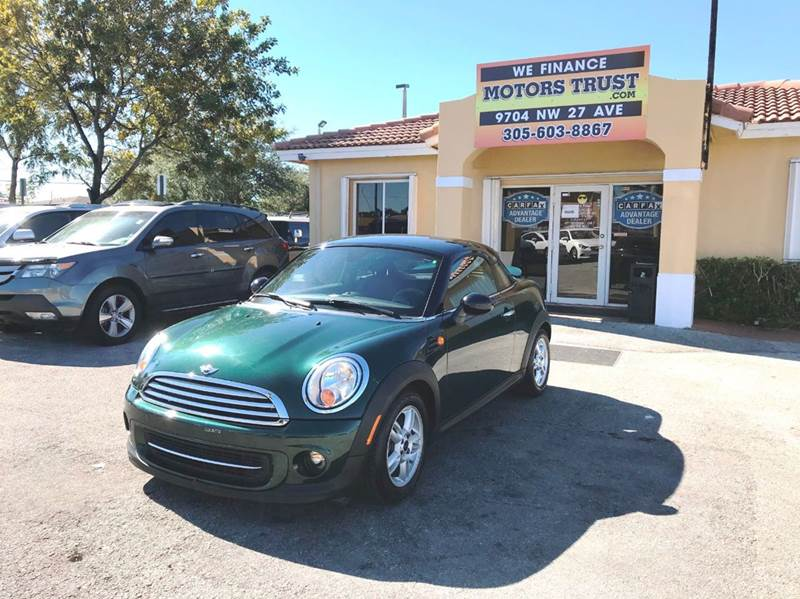 2012 MINI COOPER COUPE BASE 2DR COUPE green 2-stage unlocking doors abs - 4-wheel air filtratio