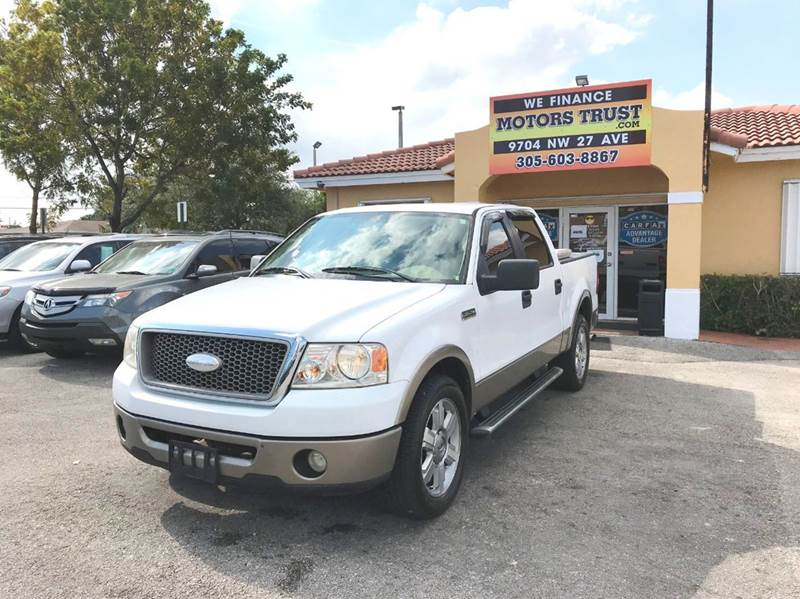 2006 FORD F-150 LARIAT 4DR SUPERCREW STYLESIDE 5 white abs - 4-wheel airbag deactivation - occup