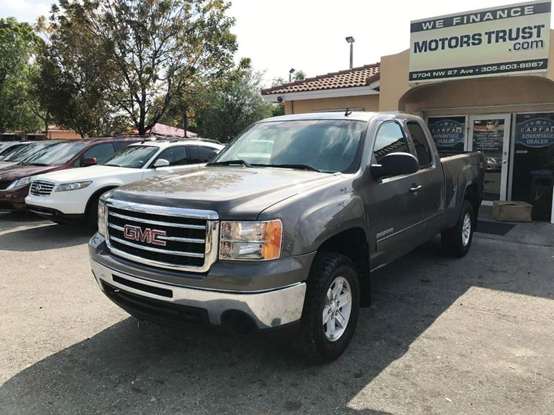 2013 GMC SIERRA 1500 SLE 4X4 4DR EXTENDED CAB 65 FT brown 4wd selector - electronic hi-lo 4wd