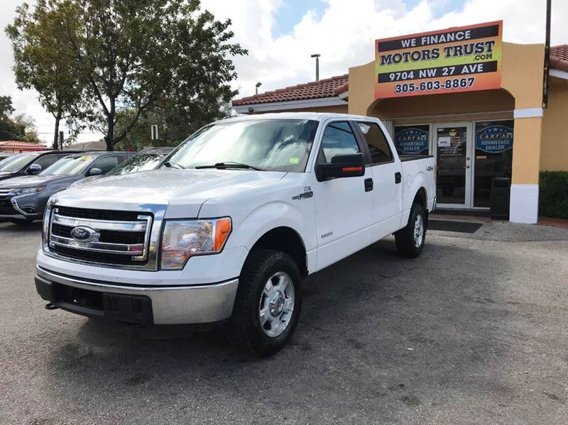 2013 FORD F-150 XLT 4X4 4DR SUPERCREW STYLESIDE white 2-stage unlocking doors 4wd selector - ele
