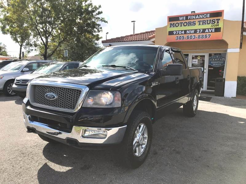 2004 FORD F-150 LARIAT 4DR SUPERCREW 4WD STYLESI black 4wd type - part time abs - 4-wheel adjus