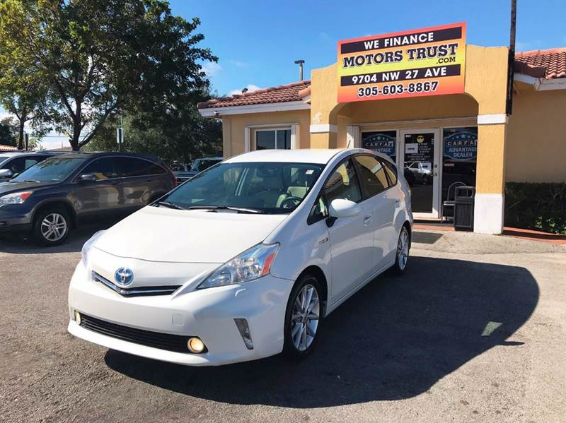 2012 TOYOTA PRIUS V FIVE 4DR WAGON white abs - 4-wheel active head restraints - dual front air f