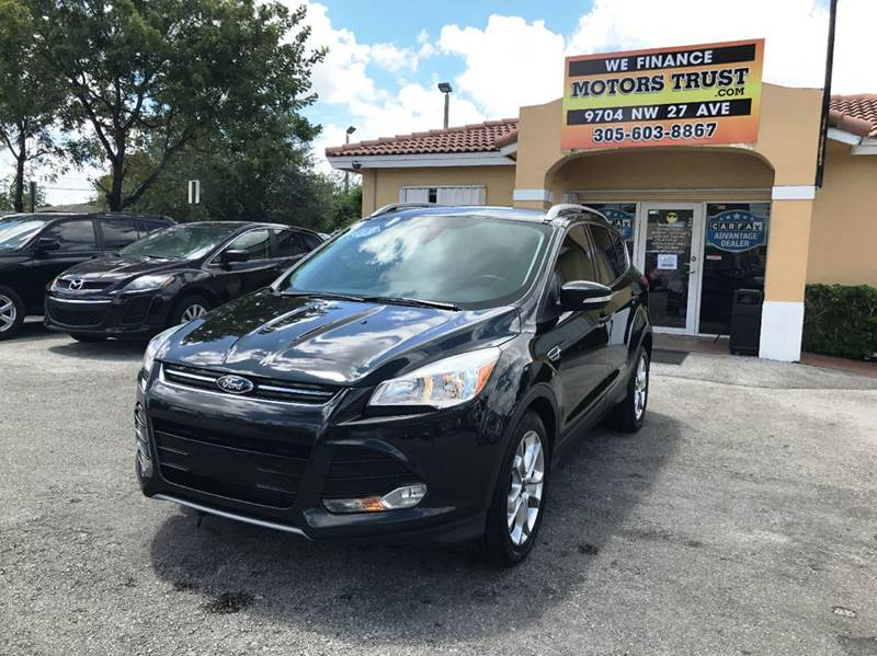 2014 FORD ESCAPE TITANIUM 4DR SUV black 2-stage unlocking doors abs - 4-wheel air filtration ai