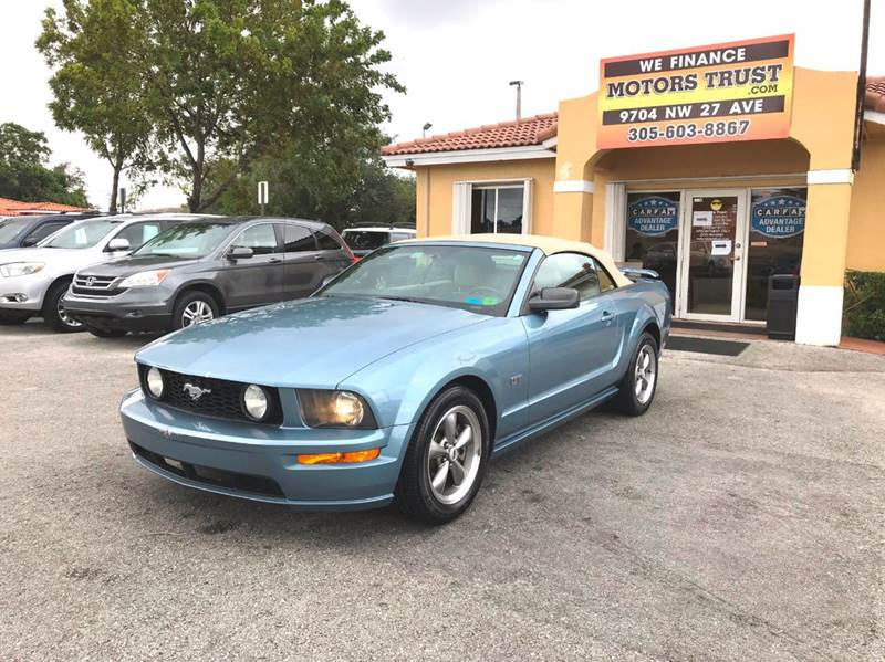 2006 FORD MUSTANG GT PREMIUM 2DR CONVERTIBLE light blue abs - 4-wheel airbag deactivation - occu