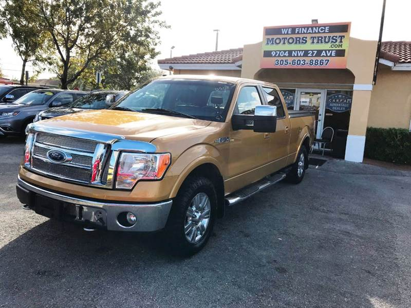 2009 FORD F-150 LARIAT 4X4 4DR SUPERCREW STYLESI gold 2-stage unlocking doors 4wd selector - elec