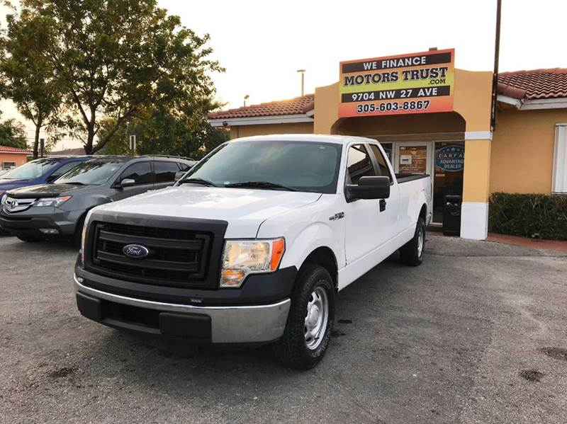 2013 FORD F-150 XL 4X2 4DR SUPERCAB STYLESIDE 8 white abs - 4-wheel airbag deactivation - occupa