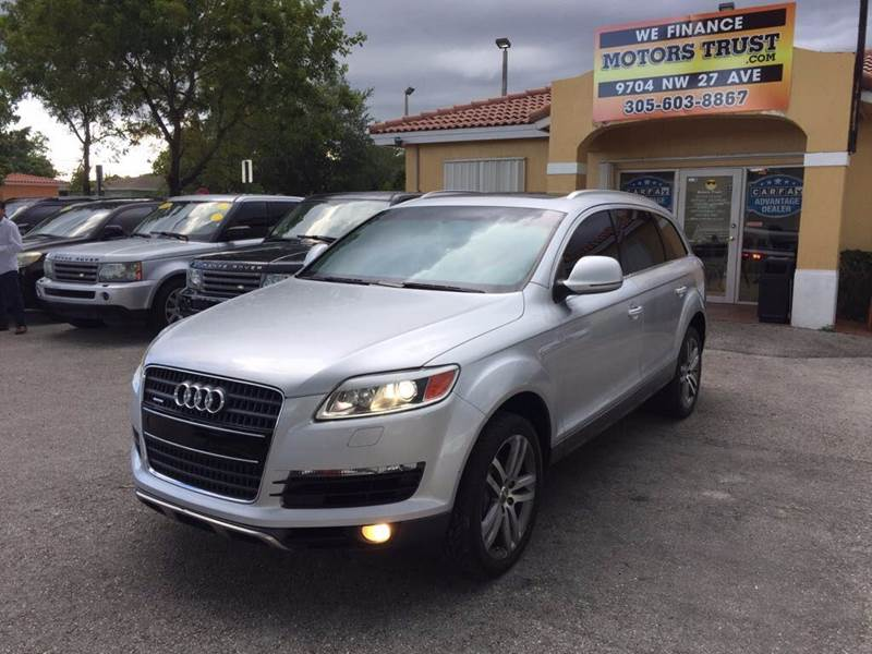 2007 AUDI Q7 36 PREMIUM QUATTRO AWD 4DR SUV silver 2-stage unlocking doors 4wd type - full time