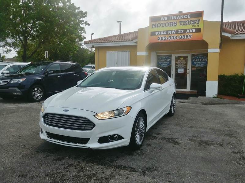 2015 FORD FUSION TITANIUM 4DR SEDAN white 2-stage unlocking doors abs - 4-wheel air filtration