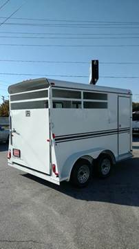 2017 Bee Trailers 2 Horse Slant Load