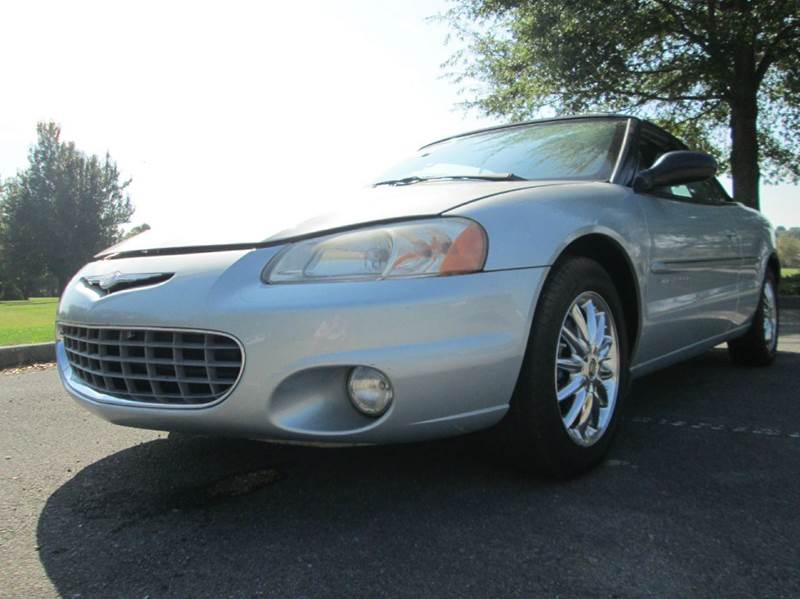 2001 CHRYSLER SEBRING LIMITED 2DR CONVERTIBLE blue sebring convertible power windows power doo