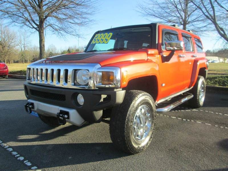 2008 HUMMER H3 BASE 4X4 4DR SUV WLUXURY PACKAG orange fully loaded up h3  4x4 leather powe