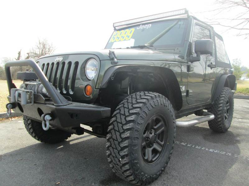 2007 JEEP WRANGLER X 4X4 2DR SUV army green beautiful lifted with awesome wheels and tires cle