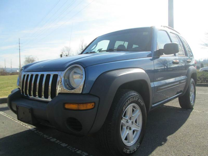 2004 JEEP LIBERTY SPORT 4DR 4WD SUV blue unbelievably low low mileage only 87k 4x4 sport mo