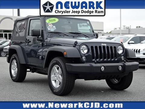 2016 Jeep Wrangler for sale in Newark, DE