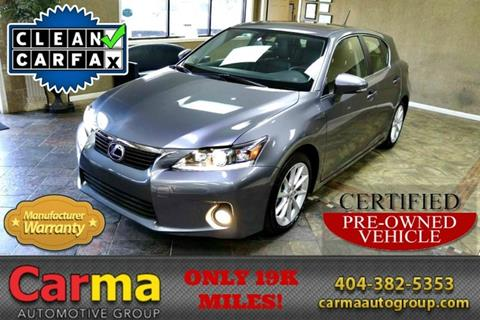 2013 Lexus CT 200h for sale in Duluth, GA