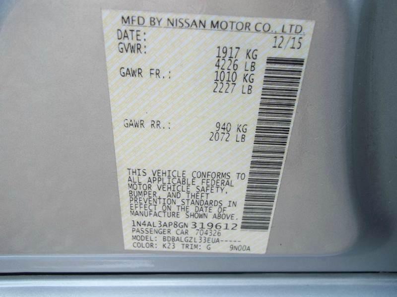 2016 Nissan Altima 2.5 4dr Sedan - Laurel MS