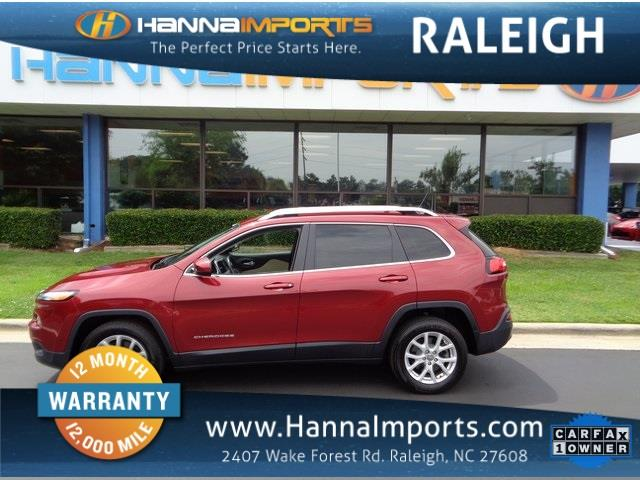 2015 JEEP CHEROKEE LATITUDE 4DR SUV deep cherry red crystal pearlc 2015 jeep