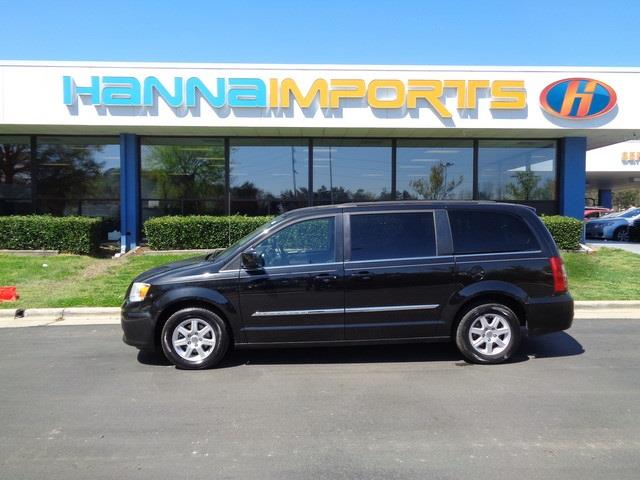 2012 CHRYSLER TOWN AND COUNTRY TOURING 4DR MINI VAN brilliant black crystal pearlc 2012 chrysler