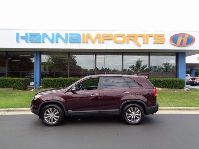 2011 KIA SORENTO EX AWD 4DR SUV V6 burgundy one owner leather seats and
