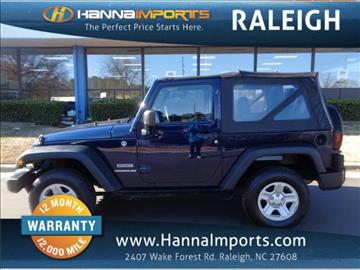 2013 Jeep Wrangler for sale in Raleigh, NC