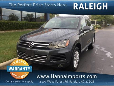 2012 Volkswagen Touareg for sale in Raleigh, NC