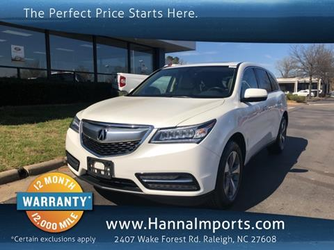 2016 Acura MDX for sale in Raleigh, NC
