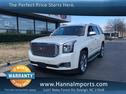 2015 GMC Yukon for sale in Raleigh, NC