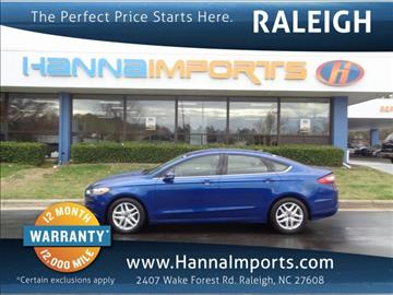 2013 Ford Fusion for sale in Raleigh, NC