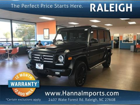 2013 Mercedes-Benz G-Class for sale in Raleigh, NC