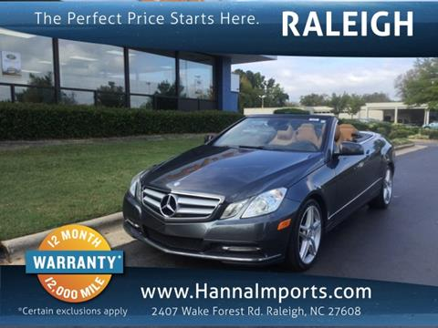 2013 Mercedes-Benz E-Class for sale in Raleigh, NC