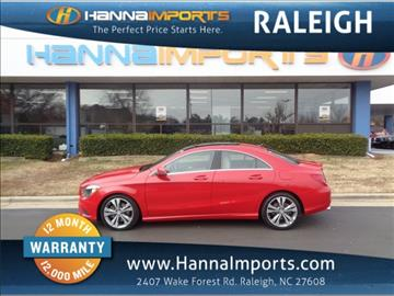 2014 Mercedes Benz CLA For Sale North Carolina