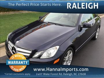 2010 Mercedes-Benz E-Class for sale in Raleigh, NC