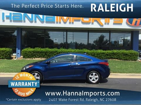 2013 Hyundai Elantra Coupe for sale in Raleigh, NC