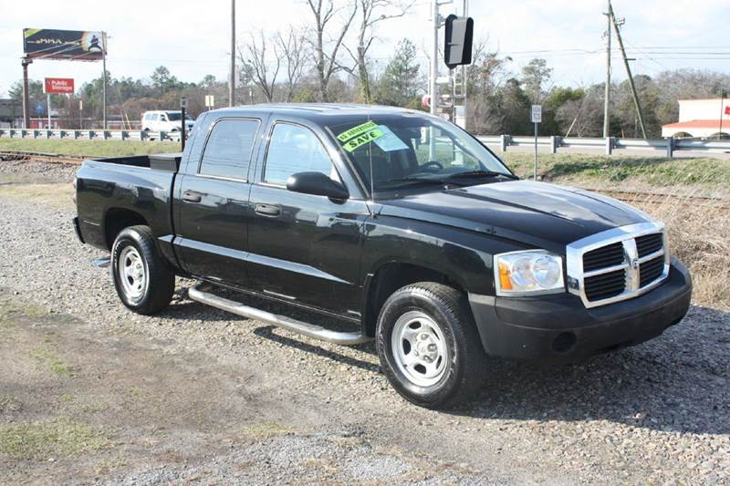 2006 DODGE DAKOTA ST 4DR QUAD CAB SB black air conditioning power windows power locks power st