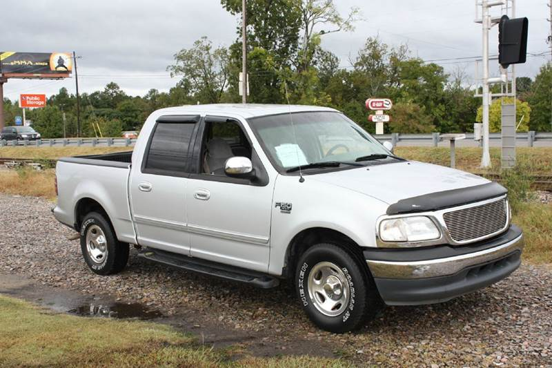2001 FORD F-150 SUPERCREW silver air conditioning power windows power locks power steering ti