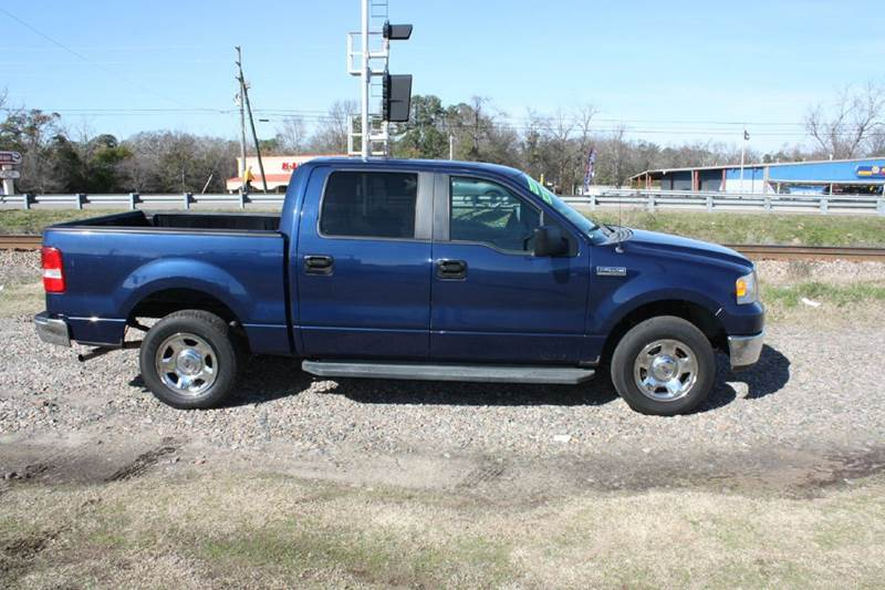 2007 FORD F-150 SUPERCREW blue air conditioning power windows power locks power steering tilt