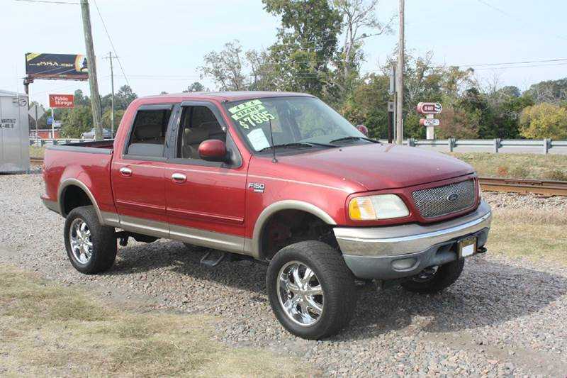 2003 FORD F-150 SUPERCREW red air conditioning power windows power locks power steering tilt