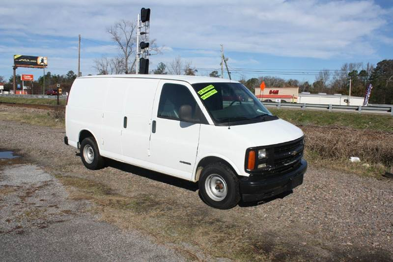 2002 CHEVROLET EXPRESS CARGO 1500 3DR VAN white air conditioning power windows power locks pow