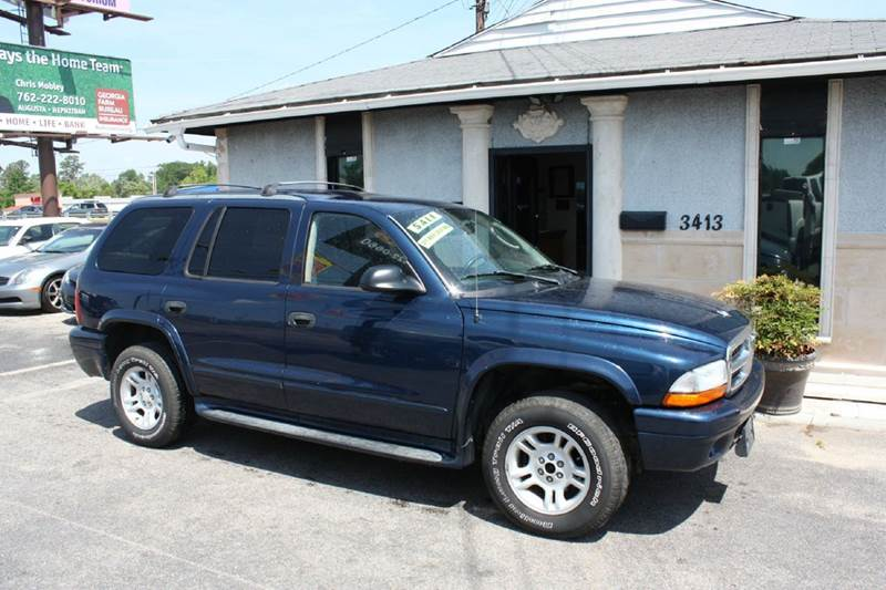 2003 DODGE DURANGO SLT 4WD 4DR SUV blue air conditioning power windows power locks power steer