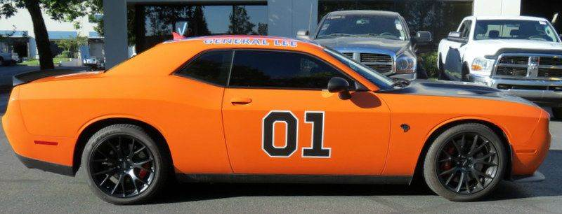 2015 dodge challenger srt hellcat 2dr coupe general lee for Is dodge general motors