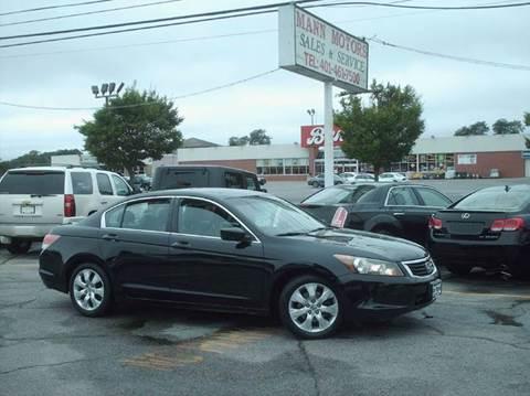 2008 Honda Accord for sale in Warwick, RI