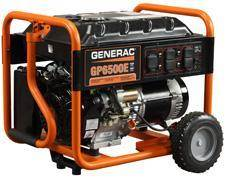 2013 Generac 6500E/8000W GP Series Portable Electric Generator