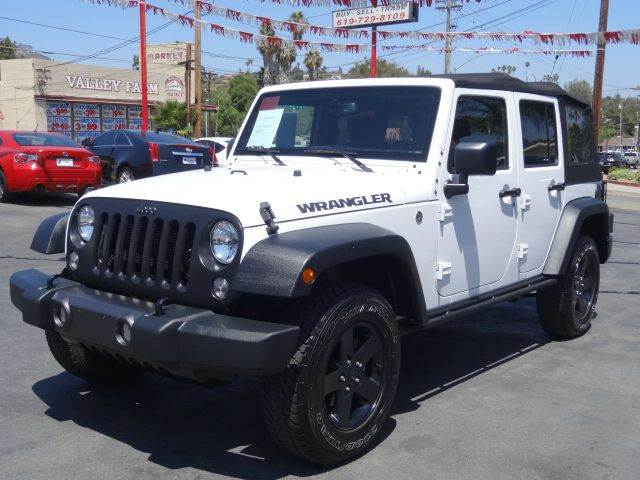 2016 jeep wrangler unlimited 4x4 black bear 4dr suv in spring valley ca automaxx. Black Bedroom Furniture Sets. Home Design Ideas