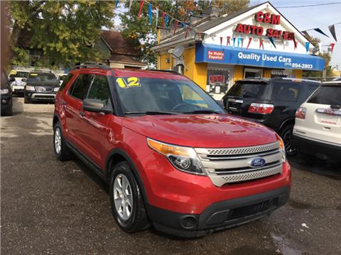 2012 Ford Explorer for sale in Detroit, MI