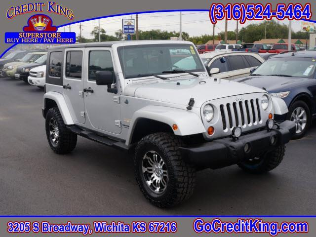 2007 jeep wrangler unlimited sahara 4dr suv 4wd for sale in wichita andover clearwater credit. Black Bedroom Furniture Sets. Home Design Ideas