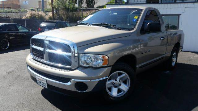 2005 DODGE RAM PICKUP 1500 ST 2DR REGULAR CAB RWD SB gold axle ratio - 321 bumper color - chrom