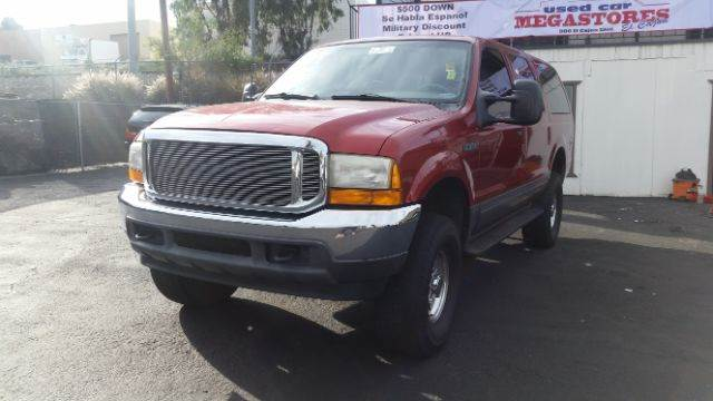2001 FORD EXCURSION XLT 2WD 4DR SUV red abs - 4-wheel anti-theft system - alarm axle ratio - 3