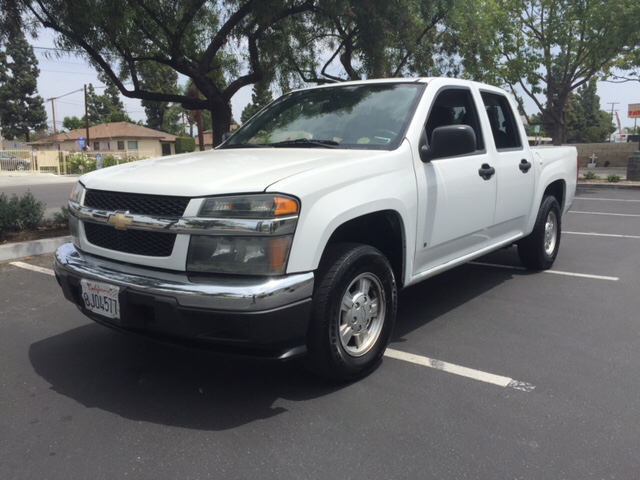 2007 CHEVROLET COLORADO LT 4DR CREW CAB SB white 2-stage unlocking - remote abs - 4-wheel airba