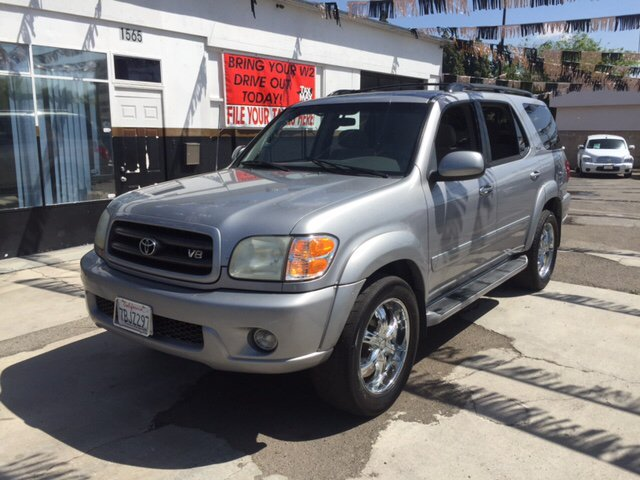 2002 TOYOTA SEQUOIA SR5 2WD 4DR SUV silver 16 inch wheels abs - 4-wheel antenna type - power a
